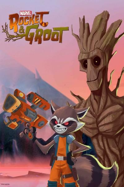 Caratula, cartel, poster o portada de Marvel\'s Rocket & Groot