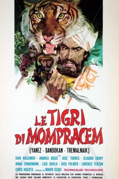 Caratula, cartel, poster o portada de Los tigres de Mompracem