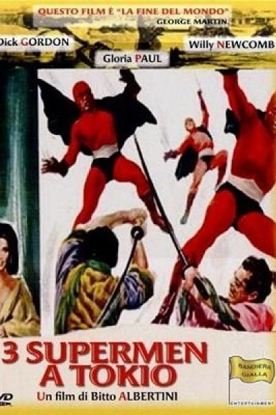 Caratula, cartel, poster o portada de Tres superhombres en Tokio