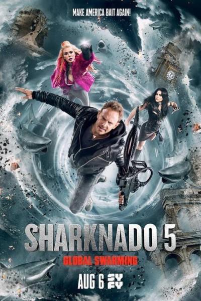 Caratula, cartel, poster o portada de Sharknado 5: Aletamiento global