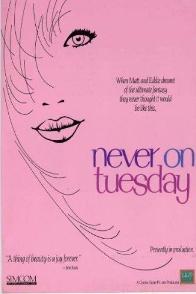 Caratula, cartel, poster o portada de Never on Tuesday