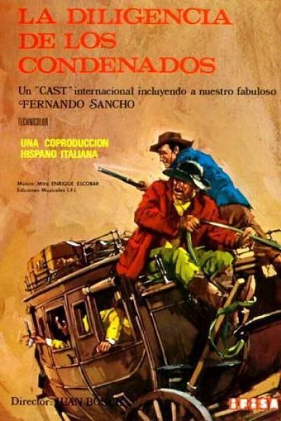 Caratula, cartel, poster o portada de La diligencia de los condenados