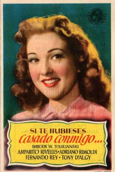 Caratula, cartel, poster o portada de Si te hubieses casado conmigo
