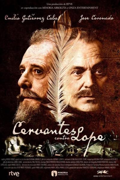 Caratula, cartel, poster o portada de Cervantes contra Lope