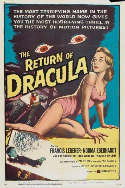 Caratula, cartel, poster o portada de El retorno de Drácula