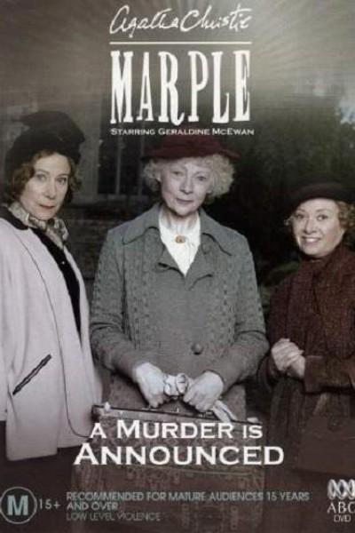 Caratula, cartel, poster o portada de Miss Marple: Se anuncia un asesinato