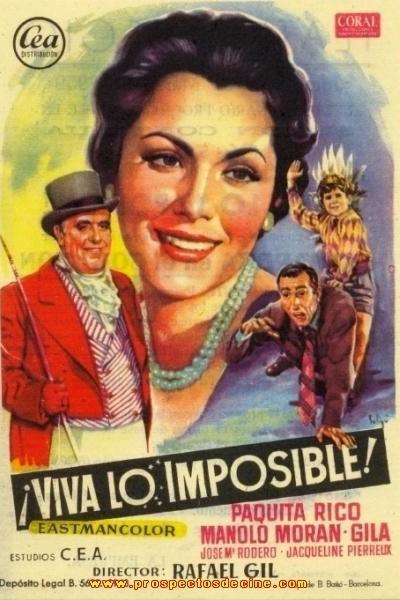 Caratula, cartel, poster o portada de ¡Viva lo imposible!