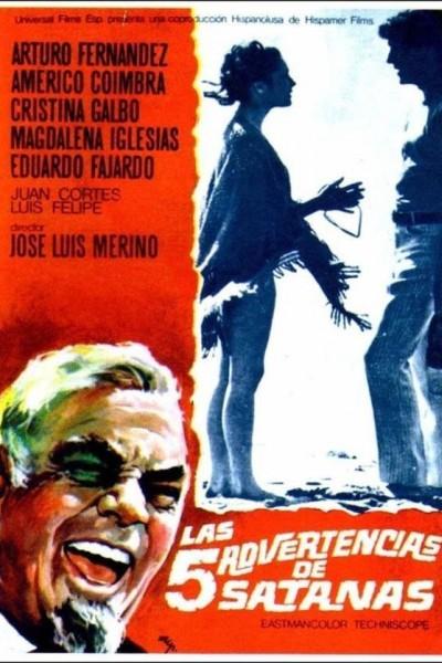 Caratula, cartel, poster o portada de Las cinco advertencias de Satanás