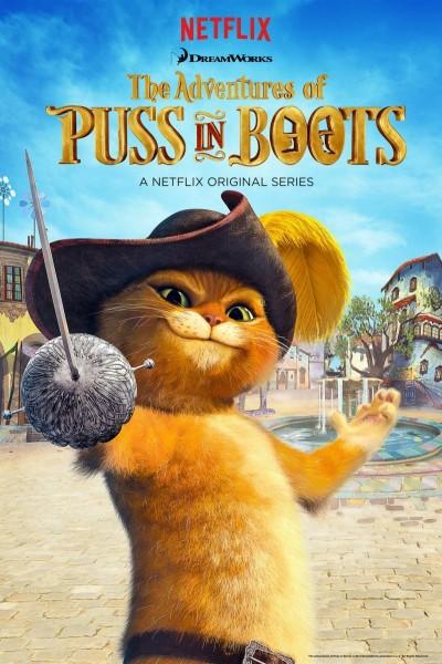Caratula, cartel, poster o portada de Las aventuras del Gato con Botas