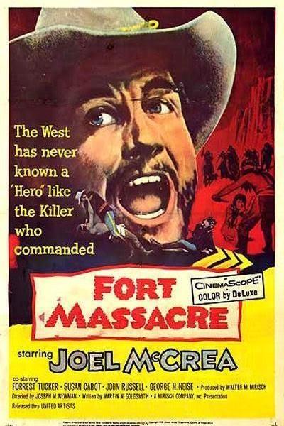 Caratula, cartel, poster o portada de Fort Massacre (El fuerte de la matanza)