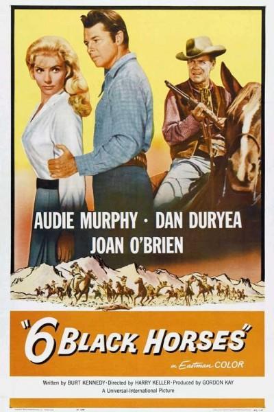 Caratula, cartel, poster o portada de Seis caballos negros