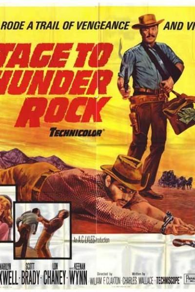 Caratula, cartel, poster o portada de Diligencia a Thunder Rock