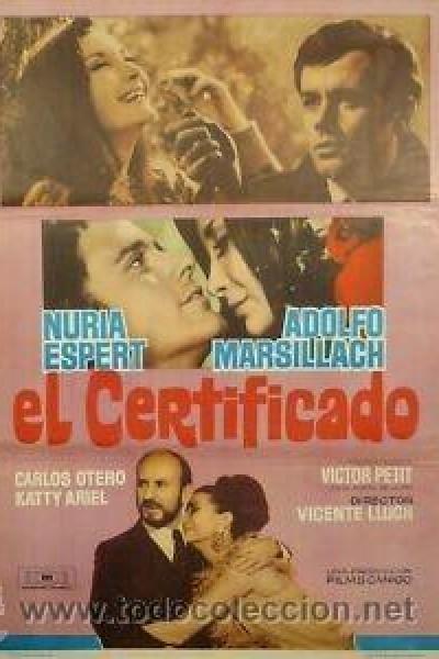 Caratula, cartel, poster o portada de El certificado