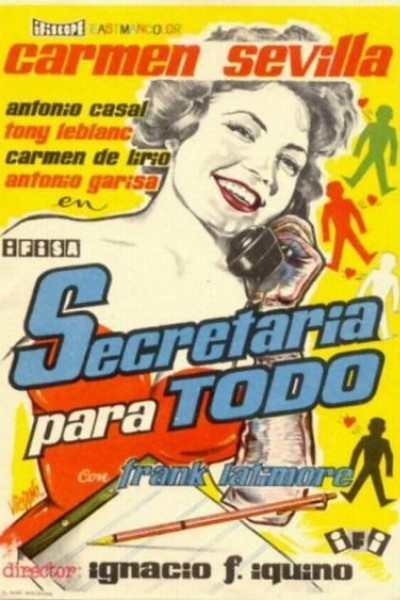 Caratula, cartel, poster o portada de Secretaria para todo