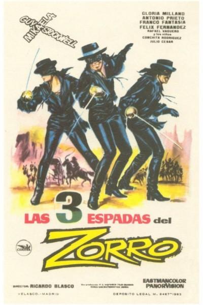 Caratula, cartel, poster o portada de Las tres espadas del Zorro