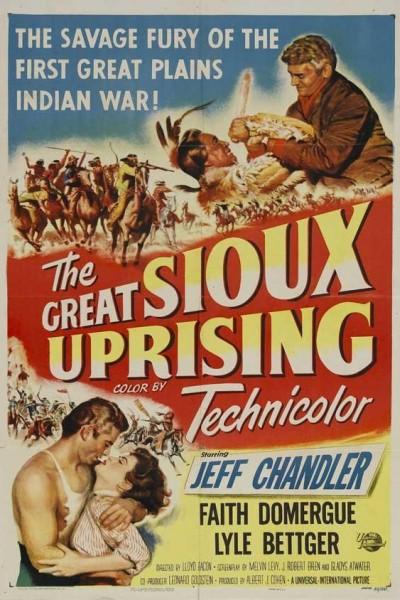 Caratula, cartel, poster o portada de La carga de los indios Sioux