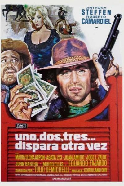Caratula, cartel, poster o portada de Uno, dos, tres... dispara otra vez