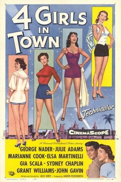 Caratula, cartel, poster o portada de Four Girls in Town