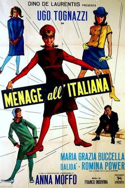Caratula, cartel, poster o portada de Menage a la italiana
