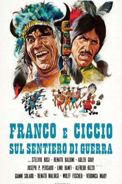 Caratula, cartel, poster o portada de Franco y Ciccio en el sendero de la guerra