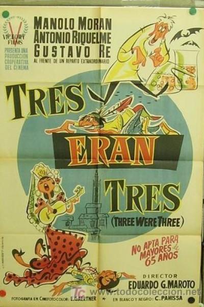 Caratula, cartel, poster o portada de Tres eran tres