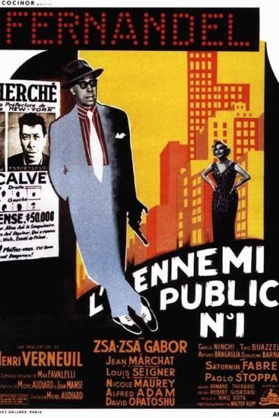 Caratula, cartel, poster o portada de El enemigo público número 1