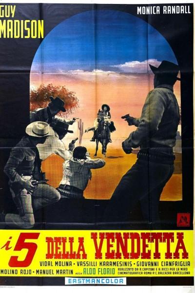 Caratula, cartel, poster o portada de Los cinco de la venganza